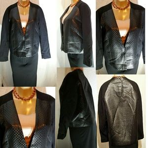 H & M Faux Leather Front & Back Jacket(12)